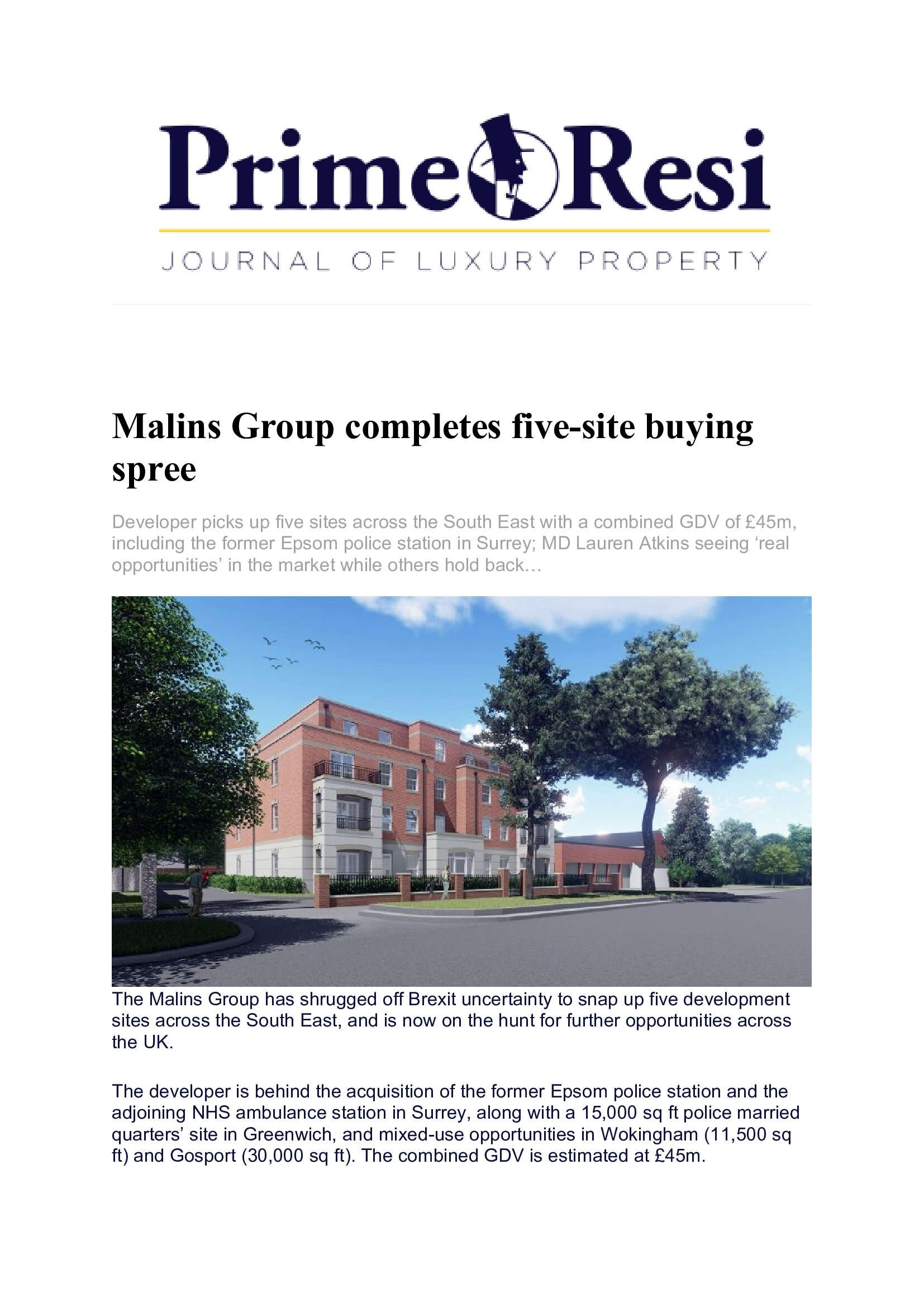 Malins Group – Press & Public Relations